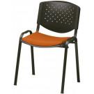 Sedia impilabile con struttura in acciaio per sala d'attesa