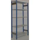 Scaffale in metallo verniciato da magazzino scaffale industriale per magazzino cm. 91x40x250h