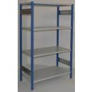 Scaffalatura in metallo per magazzino verniciata cm. 120x70x180h