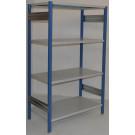 Scaffale in ferro scaffale industriale per magazzino cm. 120x60x200h