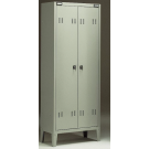Armadio per spogliatoio monoblocco a 2 posti con vano interno cm. 70x47x180h