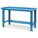 Banco da magazzino e officina in metallo verniciato grigio o blu fornito smontato cm. 105,7x70,5x74/111h