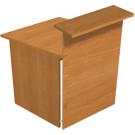 Bancone reception con scrivania in legno melaminico cm. 80x96,5x115h