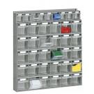 Scaffalatura practibox in plastica con cassetti trasparenti cm. 60x10,7x65h