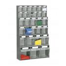 Scaffale a parete in plastica con cassetti portaminuteria cm. 60x22,4x100h