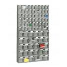 Scaffale a cassetti in plastica cm. 60x11,3x102,2h