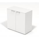 Mobile contenitore OFFICE operativo con ante in legno basso DIM CM 45/90X45X85H bianco dance