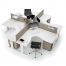 Composizione completa ufficio operativo serie OFFICE 4 postazioni