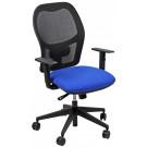 Poltroncina per ufficio seduta ergonomica con elevazione a gas e braccioli regolabili