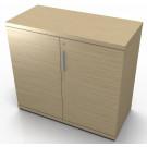Mobile contenitore da ufficio con ante in melaminico cm. 90,2x33,8/43,4x81,6h