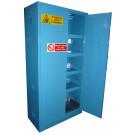 Armadio di sicurezza monoblocco per prodotti fitosanitari in lamiera sp. 10/10 cm. 100x55x200H