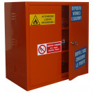 Armadio per stoccaggio prodotti infiammabili e comburenti monoblocco in lamiera sp. 10/10 cm. 100x55x100H