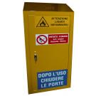 Armadio di sicurezza monoblocco di stoccaggio per prodotti infiammabili, comburenti e vernici cm. 53x50x100h