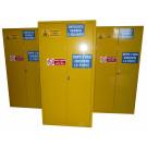 Armadio di sicurezza per prodotti infiammabili, comburenti e vernici fornito monoblocco cm. 100x55x200H
