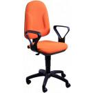 Sedia ergonomica girevole da ufficio operativo con braccioli colore su richiesta