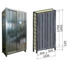 Porta scorrevole in lamiera zincata per fronte scaffalatura cm. 100x184,5h