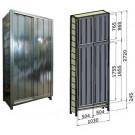 Porta scorrevole in lamiera zincata per fronte scaffalatura cm. 100x285h