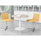 Tavolo rotondo con gamba metallica per sala riunioni cm. 100x100x74h