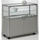Vetrina bassa con mobile e ripiano regolabile in cristallo per salotto cm. 99x52,5x96h