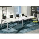 Tavolo riunioni con gambe metalliche per ufficio cm. 320x160x72,5h