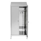 Armadio spogliatoio in acciaio inox AISI 430 a 2 posti a 2 ante battenti con tramezza sporco/pulito cm. 95x40x215h