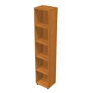 Libreria di legno per ufficio con piani regolabili in altezza cm. 40x32x196h