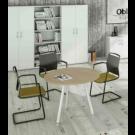 Tavolo rotondo sale riunioni con 3 gambe in metallo verniciato cm. 80/100x74,4h