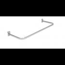 Appendiabiti diritto portagrucce in tubo ovale cm. 60x30