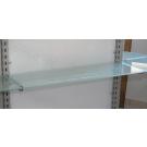 Pianetto in vetro Visarm acidato per pannello dogato cm. 60x30 completo di reggimensole