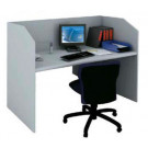 Reception call center postazione singola in melaminico verniciato cm. 90x80x119h
