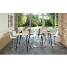 Tavolo verniciato in melaminico e gambe metalliche per sale riunioni cm. 80/140/160/180x105h