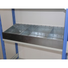 Cassettiera metallica a 4 separatori 100x30 cm ZINCATA