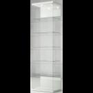 Vetrina espositiva con ripiani interni e plafoniera con faretti LED cm. 60x40x210h