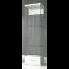 Vetrina da esposizione con mobiletto basso e faretti led cm. 60x40x210h