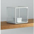 Teca a forma di cubo per esposizioni gioielli cm. 43x43x41h