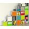 Composizione librerie multicolore