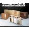 Vetrina da esposizione angolare con mobiletto basso e faretti cm. 68x68x220h