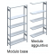 Scaffalatura metallica da magazzino Verniciata cm. 100x40x200h