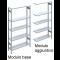 Esempio scaffale modulo base e scaffalatura modulo aggiuntivo