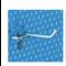 Gancio metallico cm. 5  per attacco attrezzi da lavoro - lotto di 25 pezzi