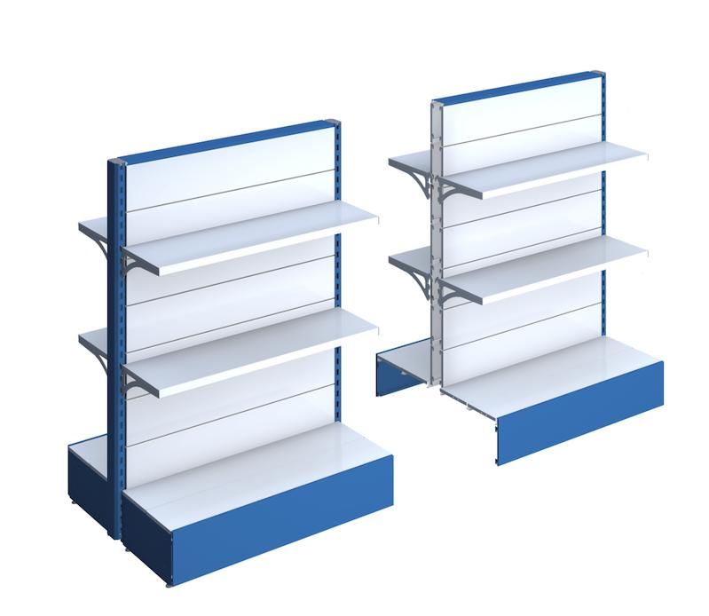 Scaffali e scaffalature metallici per negozio castellani for Piani di garage con lo spazio del negozio